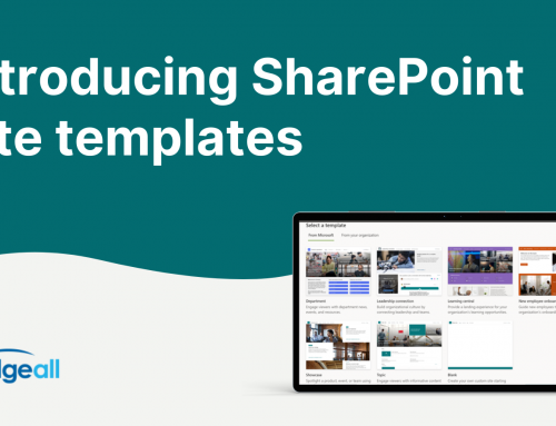 SharePoint Scenario Based Site Templates